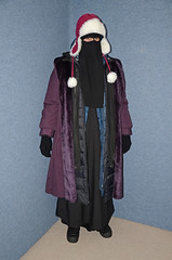 Seven Abayas, Four Coats, Pullover, Vest, two hats and Boots (Buses,Trains and Fetish) Tags: winter hot girl warm coat hijab torture sweat niqab slave burka chador
