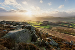 Blustery Beamsley (matrobinsonphoto) Tags: park winter light outcrop sun sunlight snow beautiful weather hail rock landscape grit outdoors golden countryside scenery view wind yorkshire hill north dramatic rocky hills national millstone valley hour lower burst showers moor drama beacon ilkley dales wharfedale moorland gritstone wintry addingham beamsley