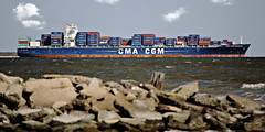 IMG_5432 (Stefan Puffer) Tags: ship texas bayport container cmacgm
