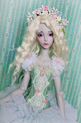 Mint Fairytale (AyuAna) Tags: set ball grey design clothing doll dress purple skin handmade ooak clothes bjd dollfie jointed ellana lillycat cerisedoll ayuana