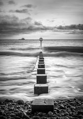 Taking Aim! (Explored) (canonshooter70d) Tags: light sea sky cloud white black art beach water scotland seaside sand ship sony aberdeen groyne a7ii