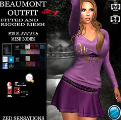 Beaumont fm outfit (Zed Sensations) Tags: eve urban leather fashion rock shirt project outfit clothing long day slim mesh top country mini skirt wear lara casual sensations isis freya belleza zed apparel hourglass tmp saia camisa sleeved maitreya pulpy ebody fitmesh slinkphysique evemesh