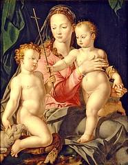 Madonna with the Infant Jesus & Saint John the Baptist, 1540s // by  Angelo Bronzino, Portland Art Museum (mike catalonian) Tags: portrait italy madonna mary virgin 1540s bronzino