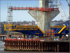 The Mersey Gateway Project update (South Pylon under construction) Runcorn side 22nd February 2016 (Cassini2008) Tags: runcorn widnes rivermersey merseylink merseygatewayproject formtravellermachine rubricaengineering