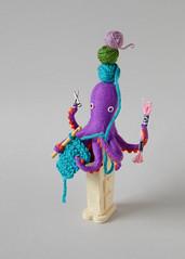 Hiné's Dispenser: Crafting (hine) Tags: show pez art toy handmade craft australia felt exhibition plush yarn octopus crafter nuigurumi hinemizushima playful2016
