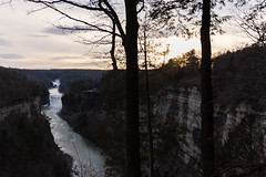 letchworth sunset (jojoannabanana) Tags: sunset nature clouds dusk overcast letchworthstatepark dreamy inspirationpoint geneseeriver 3662016