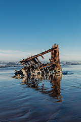 2016-01-10 - Peter Iredale Shipwreck-49 (www.bazpics.com) Tags: ocean sea usa beach water oregon america skeleton sand ship pacific or wave peter shipwreck frame hull wreck iredale