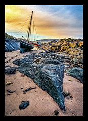 Portencross (stoneblower213) Tags: sunset sea beach coast boat harbour sony places shore photoediting hdr locations lightroom zeisslens photomatix scoltland portencrosscastle colorefexpro niksoftware sonye1018mmf4oss photoshopcc sonya6000 sonyilce6000 sony1670mmf4zeiss