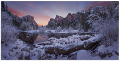 "Gates of the Valley, the Beauty of Yosemite in Winter. (Joalhi ""Around the World"") Tags: california winter yosemite mariposa mercedriver gatesofthevalley"