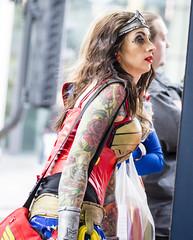 Wonder woman (gopper) Tags: female comic cardiff wonderwoman colourful marvel comiccon con