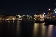 Nybroviken and Normalm from Strandvgens marina (Mauricio Duque Arrubla) Tags: longexposure nightphotography stockholm strandvgen fromthewater