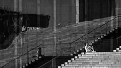 just a short rest (Blende1.8) Tags: street city summer people woman reflection berlin window glass sunglasses stairs person nikon stair candid fenster hauptstadt shades treppe stadt rest pause frau gals spiegelung glas sonnenbrille mensch capitolcity bundeshauptstadt d700