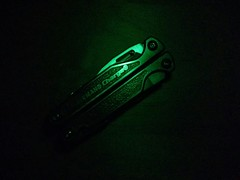radioactive. (FeebleOldMan) Tags: leatherman glowinthedark charge chargetti