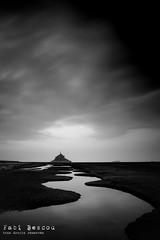 Mont Saint Michel (Fabi Bescou) Tags: sky water clouds landscape eau noiretblanc ciel normandie nuages montsaintmichel prssals canaux baiedumontstmichel nikond610 20mmnikkor18