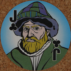 Round Playing Card Jack of Clubs (Leo Reynolds) Tags: playing deck card squaredcircle playingcard carddeck xleol30x