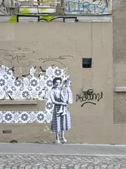 villa Albert Robida (Leo & Pipo) Tags: street city urban streetart paris france pasteup art collage wall vintage paper poster french graffiti artwork stencil sticker leo handmade cut wheatpaste paste tag retro affichage pipo rue mur papier ville affiche urbain colle leopipo