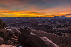 Winter Sunrise (Fred Moore 1947) Tags: sky clouds sunrise landscape utah us rocks unitedstates places moab islandinthesky droh canyonlandsnp dailyrayofhope