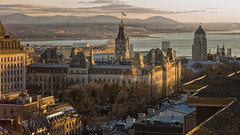 Parliament in Quebec City. (LoVeLyToR) Tags: sunset canada reflection buildings cityscape quebec hill parliament quebeccity stlawrenceriver