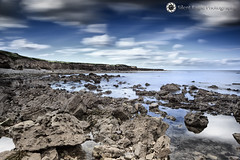 Whitburn, North East (Silent Eagle  Photography) Tags: longexposure blue sea sky seascape water rock clouds canon photography mar yahoo google shadows silent eagle lee sep northeast whitburn reflecion leefilters withburn silenteagle09 whitburnnortheast