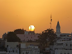 Peace (lizarazoom) Tags: sunset sun india pushkar