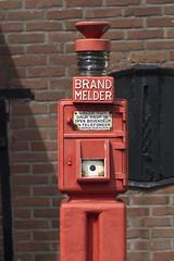 Public firealarm (Arne Kuilman) Tags: alarm public vertical firealarm aperture bokeh olympus retro adapter m42 manualfocus brandweer brandmelder 50mmf18 sloten oreston meyergrlitz staand