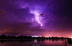 Stormy (Marcus Lim @ WK) Tags: light sky cloud storm reflection water night landscape nikon cloudy tamron1750