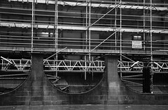 After the fire comes the rain, after the pleasure there's pain ... and scaffolding (neil mp) Tags: architecture warning fire scotland scaffolding glasgow gsa glasgowschoolofart mackintosh charlesrennie