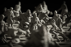 Zombies! (Vail Marston) Tags: blackandwhite bw game monochrome monster dead death miniature zombie mini plastic figure undead zombies blackplague zombicide