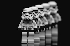 Standing in formation (padge83) Tags: star blackwhite nikon lego wars figures d5300