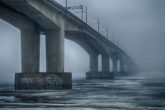 Matin sombre (andrey.senov) Tags: bridge ice river spring fuji russia fujifilm province volga   kostroma    xa1 50faves    fujifilmxa1
