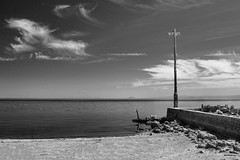 Bombay Beach (CEBImagery.com) Tags: california light sea sky art beach water clouds pier fine pole bombay salton