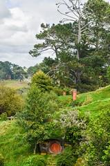 Hobbiton Movie Set (The Shire from LOTR and The Hobbit) (iriskh) Tags: newzealand movie landscape lotr hdr hobbiton 18200mm nikond5100