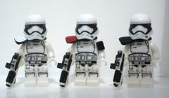 Stormtroopers First Order I (Blacktron2011) Tags: star order force lego first figure stormtrooper wars custom heavy gunner commander awakens