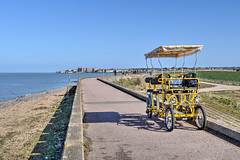 Surrey bike, Minnis Bay, Kent (Aliy) Tags: minnisbay birchington kent coast sea seaside beach bay thanet bike bicycle surreybike surreybicycle fourwheeled path coastpath coastalpath promenade yellow yellowbike yellowbicycle quadricycle quadracycle fourwheeledbicycle fourwheeledbike quadcycle