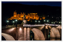 Heidelberg: Castle (drasphotography) Tags: travel bridge castle architecture river germany deutschland nikon nightshot architektur heidelberg brcke schloss neckar reise nachtaufnahme alte travelphotography reisefotografie flus schlos d7k nikond7000 drasphotography