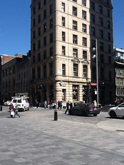 Montreal . Place D' Armes and building. (denisbin) Tags: photobooth montreal placedarmes