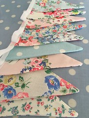 Cath kidston fabric buntings (patchwork and lace) Tags: patchworkandlace handmade patchwork cathkidston shabbychic