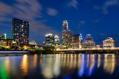 Skyline - Austin, TX (kinchloe) Tags: reflection skyline buildings austin reflections downtown texas tx bluehour