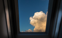 Spaceship Earth (glasseyes view) Tags: blue cloud window bathroom cloudy earth bluesky bleu planet spaceship blau landed glasseyesview