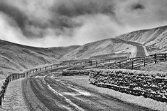 Into the storm. (paul downing) Tags: winter snow ice nikon blizzard yorkshiredales swaledale buttertubs wendsleydale pd1001 d7000 pauldowning silverefexpro2 pauldowningphotography