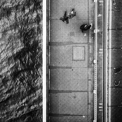 Above (Al Fed) Tags: above people london water thames contrast towerbridge three couple 20160325