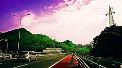 Chongqing (Slonya) Tags: china road red green highway overpass chongqing skyway