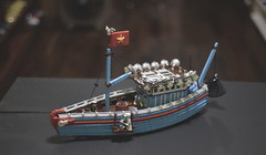 Yet another Lego fishingboat (Hoang H Dang) Tags: sea scale water boat fishing asia vietnamese lego shore minifig moc