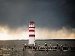 Podersdorf (III) (jonny_weissmueller) Tags: sea lighthouse lake clouds 50mm austria sterreich naturallight leuchtturm burgenland neusiedlersee nikkor50mm14 lookslikefilm beforethethunderstorm naturallook nikond750