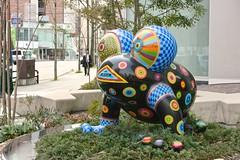 Fukuoka (Brian Aslak) Tags: city urban sculpture art strange japan asia frog psycho  colourful fukuoka kyushu   hakata   canalcityhakata