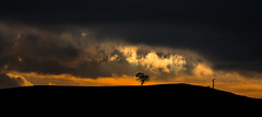 the edge of everything (keith midson) Tags: sunset sky tree clouds smoke horizon hills tasmania oatlands
