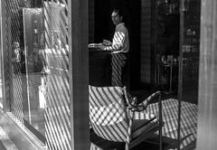 (elkogan) Tags: street shadow interior streetphotography figure blinds linear