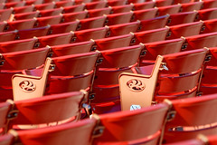 Red Seats (only lines) Tags: red usa chicago illinois outdoor empty milleniumpark rows seats jaypritzkerpavilion