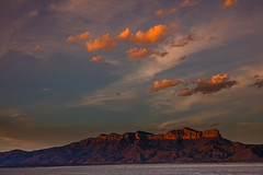 _40A3269 (ChefeGrande) Tags: park camping sunset sky mountain silhouette clouds landscape nationalpark texas outdoor westtexas elcapitan hikingtrail saltflat guadalupemountains guadalupepeak