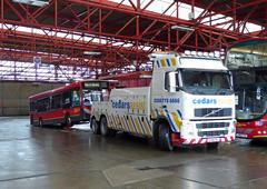 CEDARS ASSIST 1 - SV56FKJ - BX BEXLEYHEATH BUS GARAGE - WED 9TH MAR 2016 (Bexleybus) Tags: bus truck 1 volvo garage assist tow recovery cedars bexleyheath bx sv56fkj